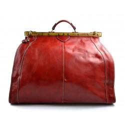 Sac docteur voyage en cuir doctor bag cuir sacoche femme homme rouge sac à main en cuir