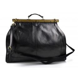 Sac docteur voyage en cuir doctor bag cuir sacoche femme homme noir sac à main en cuir
