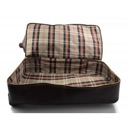 Mens leather bag shoulderbag genuine leather messenger dark brown business document bag