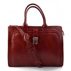 Sac cartable cuir serviette a main cuir bandoulière homme femme messenger sac de travail sac cartable rouge