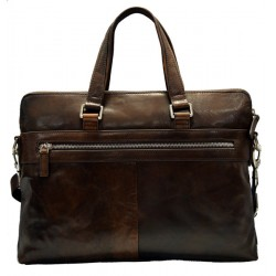 Leather satchel messenger men ladies bag handbag shoulder bag notebook tablet ipad bag dark brown