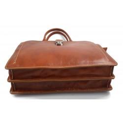 Mens leather bag shoulderbag genuine leather messenger yellow business document bag
