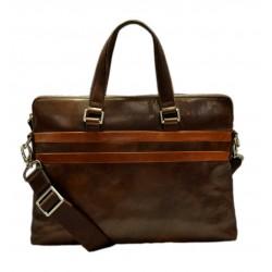 Ledertasche messenger herren damen handtasche schultertasche notebook tablet ipad tasche dunkel braun