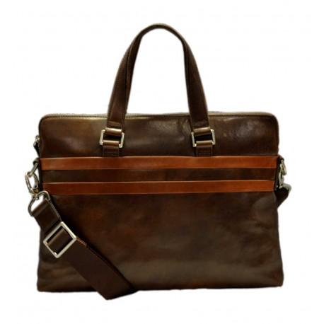Leather satchel messenger men ladies bag handbag shoulder bag notebook tablet ipad bag dark brown