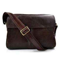 Bolso tableta piel bolso ipad piel bolso messenger bolso hombre piel bolso de mujer bolso de espalda marron oscuro