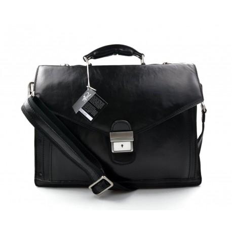 2b8cf3bd86 Cartella pelle borsa ufficio uomo donna valigetta 24 ore nero