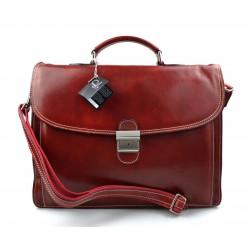 Sac à main en cuir bandoulière sac homme femme messenger rouge