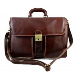 Borsa uomo cartella valigetta pelle 24 ore portadocumenti marrone