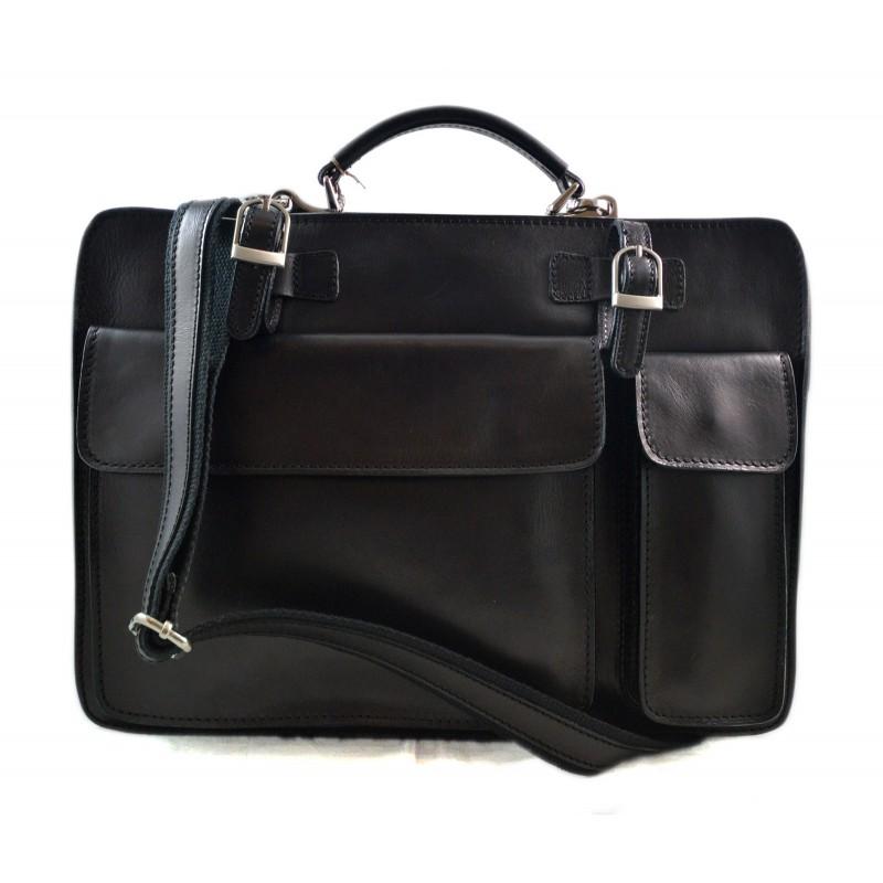 Cartella pelle borsa ufficio uomo donna valigetta 24 ore nero