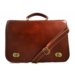 Leather mens messenger women messenger leather bag brown
