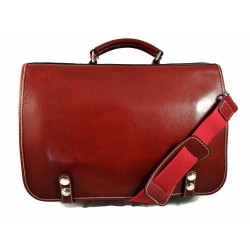 Leather shoulder bag messenger rigid bag women men handbag leather bag satchel carry on red crossbody