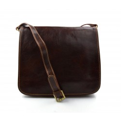 Leather messenger bag mens women leather bag leather shoulder bag brown
