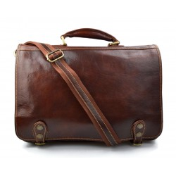 Messenger leather bag office bag mens business shoulder bag satchel brown