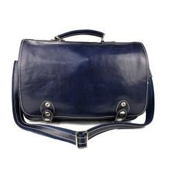 Messenger leather bag office bag mens business shoulder bag satchel blue