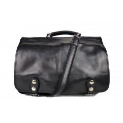 Sacoche ordinateur messenger sac à main cuir bandoulière cuir sac d'épaule sac postier noir