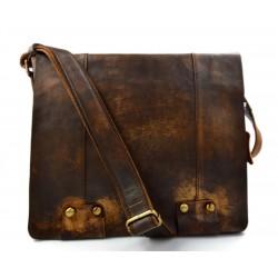 Sac cuir vintage d'èpaule marron sac postier sac en cuir homme femme bandoulière en cuir