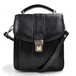 Crossbody satchel genuine leather bag shoulder bag hobo bag black