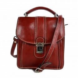 Crossbody satchel genuine leather bag shoulder bag hobo bag red
