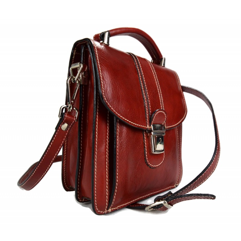 leder herren damen aktentasche ledertasche umhangetasche rot messenger. Black Bedroom Furniture Sets. Home Design Ideas