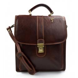 Brown hobo bag satchel mens ladies leather shoulder bag made in Italy crossbody bag