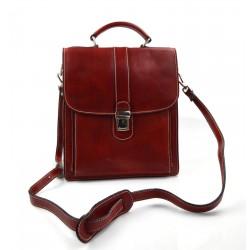 Maletin en piel cartera de cuero A4 bolso de cuero de hombre bolso de cuero de mujer marron