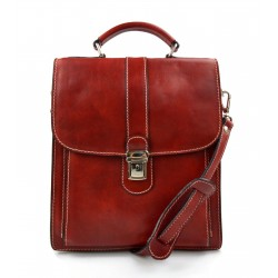 Red hobo bag satchel mens ladies leather shoulder bag made in Italy crossbody bag