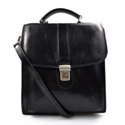 Bandoulière en cuir sac homme femme messenger sac d'épaule sac postier sac hobo noir