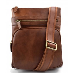 Bolso de cuero de mujer bolso de hombre bandolera de piel marron hobo bag cartero de cuero