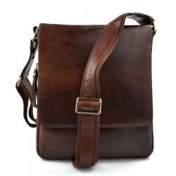 Leather brown shoulder bag mens women sling bag messenger leather satchel crossbody