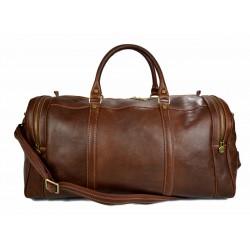 Leder reisetasche sporttasche braun damen herren schultertasche ledertasche