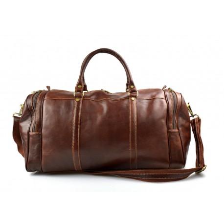 Leder reisetasche sporttasche damen herren schultertasche ledertasche braun