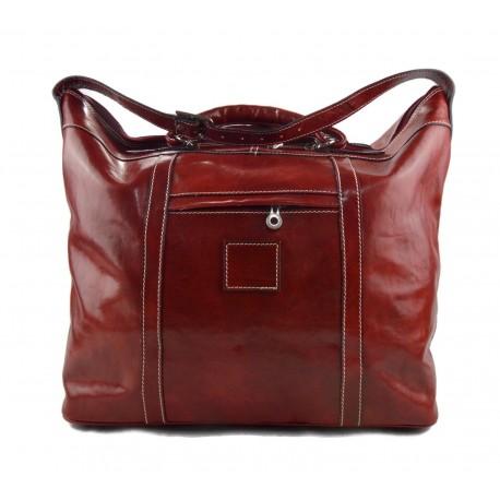 más fotos ff395 9f3c6 Bolso de viaje bolso hombre bolso de cuero rojo bolso mujer bolso de mano