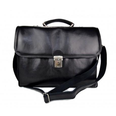 ea717cad76681 Sac cuir bandoulière sac d'épaule sac de travail sac cartable noir