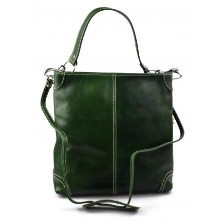 1b218e09be0a Leather ladies handbag shoulder bag luxury leather bag green