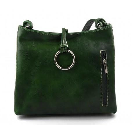 ac8f96d93 Nuevo Bolso bandolera de cuero de mujer bolso de espalda de piel bandolera  verde