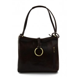 Sacoche femme sac à main en cuir sacoche de cuir besace bandoulière traverser sac d'èpaule cuir vèritable brun