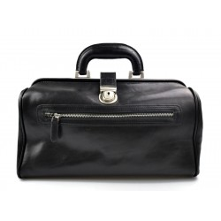 Leather doctor bag medical bag handbag ladies men leather bag vintage medical bag retro doctor bag  luxury bag black