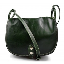 Damen ledertasche henkeltasche umhängetasche schultertasche damen grun