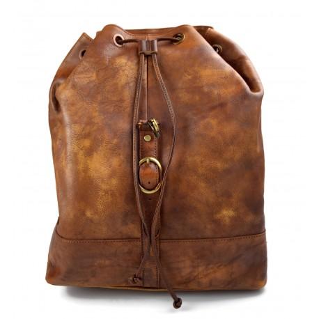 30f57c6a64 Leather dark brown backpack genuine leather travel bag weekender sports