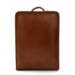 Leather backpack womens travel bag leather weekender bag notebook big backpack brown