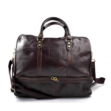 Reisetasche ledertasche sporttasche reisetasche leder schultertasche herren damen umhängetasche dunkelbraun