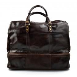 Bolso de viaje deportiva mujer bolsa de hombre con asas y correa de piel genuina