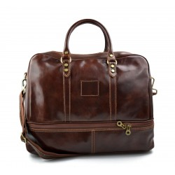 Mens leather duffle bag light brown shoulder bag travel bag luggage weekender carryon cabin bag