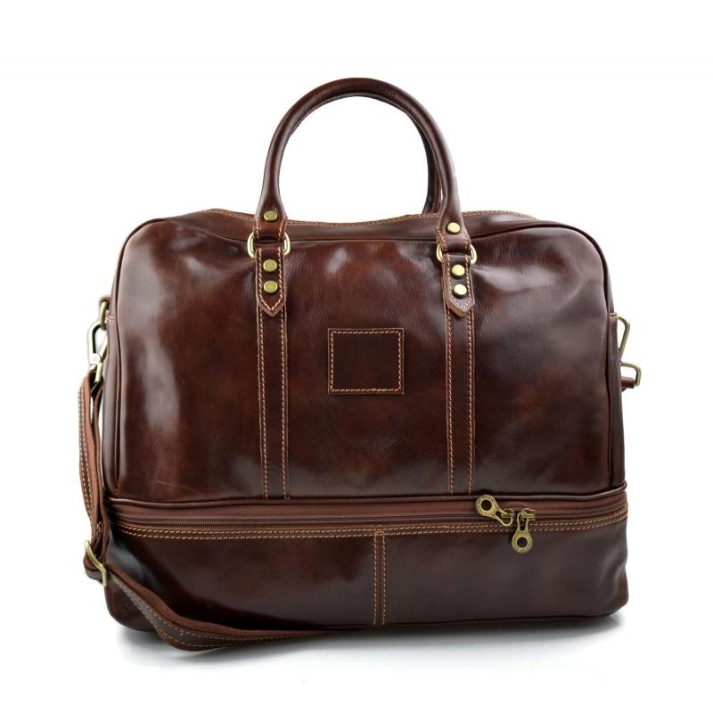 sac de voyage en cuir homme femme bandouli re sac bagage main brun. Black Bedroom Furniture Sets. Home Design Ideas