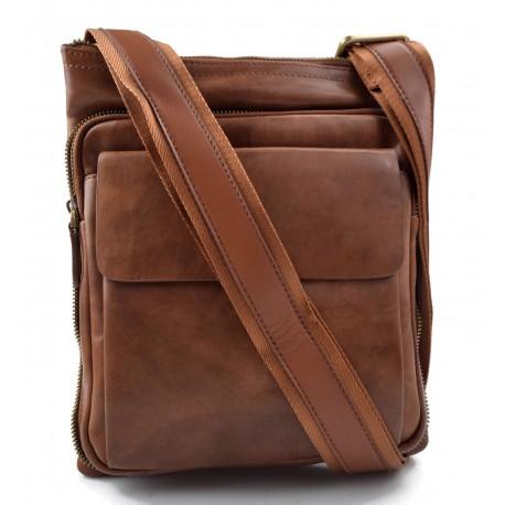 dd3ec78b4b Borsello a tracolla borsa uomo donna vera pelle messenger borsa pelle a  spalla postino pelle marrone