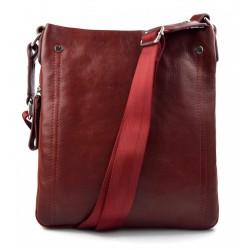 Bolso de mujer de piel bandolera de cuero bolso de espalda de cuero bolso de piel negro bolso cuero made in Italy