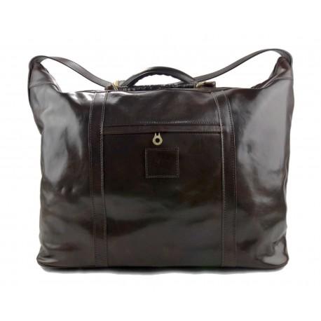 Sac de voyage homme femme bandoulière en cuir véritable sac de sport sac bagage à main cafè