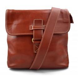 Mens shoulder bag hobo bag satchel leather bag crossbody honey made in Italy