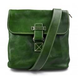 Bandolera de cuero bolso hombre piel bolso de cuero verde bolso de espalda