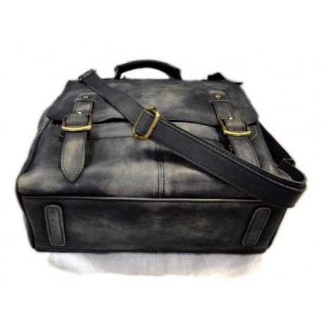 Zaino pelle uomo donna borsa palestra zaino scuola borsello lavoro miele 06ac2480614
